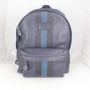 COACH #17463 Navy Blue Leather Backpack